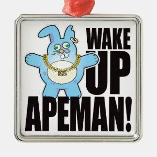Apeman Bad Bun Wake Metal Ornament