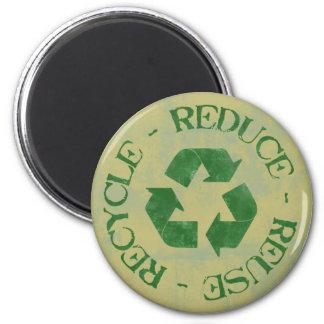 Apenado reduzca la reutilización reciclan el imán