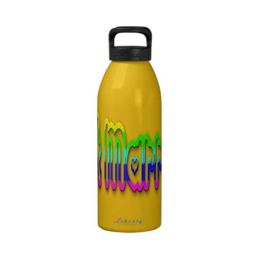 Apenas 2,0 casados botellas de agua reutilizables