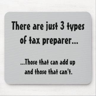 Apenas 3 tipos de preparador de impuesto - grave e alfombrilla de raton