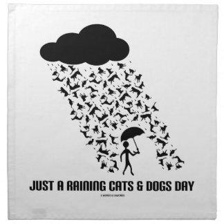 Apenas A que llueve día de los gatos y de perros Servilleta Imprimida