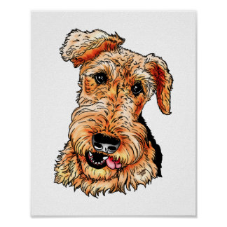 Apenas Airedale Terrier Póster