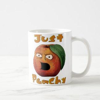 Apenas amelocotonado taza de café