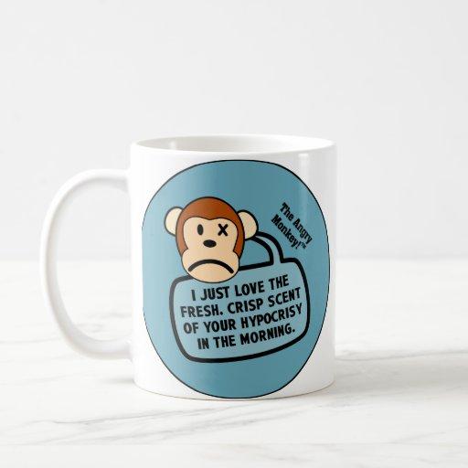 Apenas amo el olor fresco de su hipocresía tazas de café