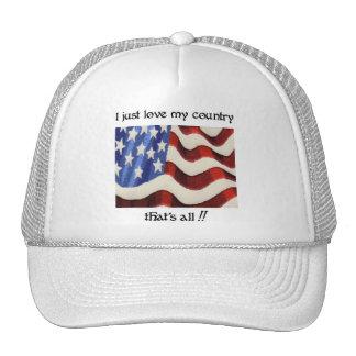 Apenas amo mi casquillo del país gorros bordados