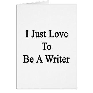 Apenas amo ser escritor
