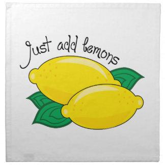 Apenas añada los limones servilletas de papel