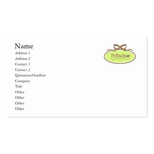 Apenas añada su logotipo, blanco del llano plantillas de tarjeta de negocio