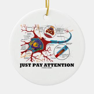 Apenas atención de la paga (neurona/sinapsis) ornamento para reyes magos