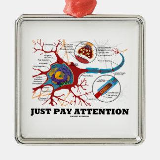 Apenas atención de la paga (neurona/sinapsis) ornamentos para reyes magos