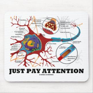 Apenas atención de la paga (neurona/sinapsis) mousepads