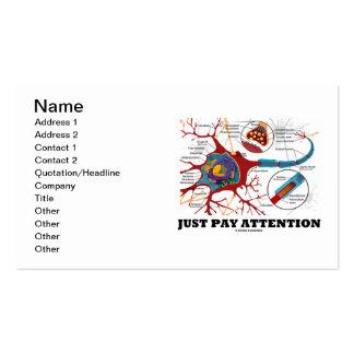 Apenas atención de la paga (neurona/sinapsis) tarjeta de negocio