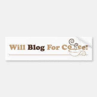 Apenas blog con la pegatina para el parachoques de pegatina para auto