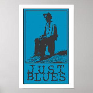 Apenas Bluesman de los azules Póster