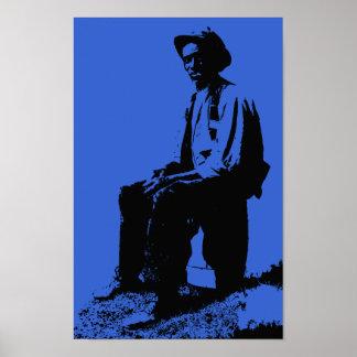 Apenas Bluesman de los azules Posters