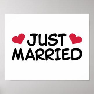 Apenas boda casado póster