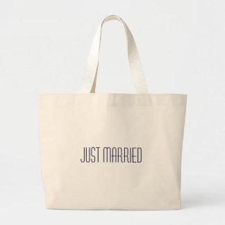 ¡Apenas bolso casado de la playa - luna de miel li Bolsa Tela Grande