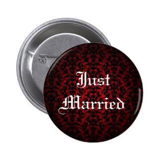 Apenas botón gótico elegante casado pins