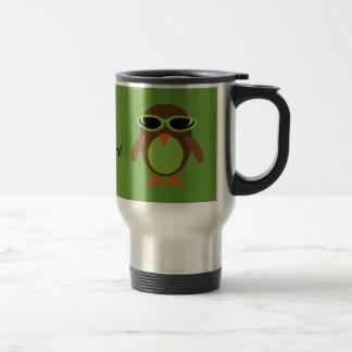 Apenas búhos de Chillin con las gafas de sol Taza Térmica
