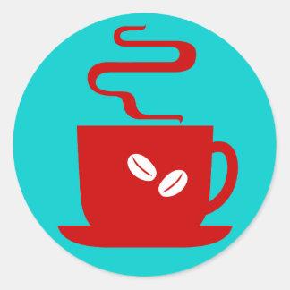 Apenas café pegatina redonda