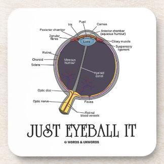 Apenas calcúlelo visualmente (la anatomía del ojo  posavasos