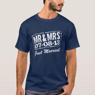 Apenas camiseta casada con Sr. y la señora de la