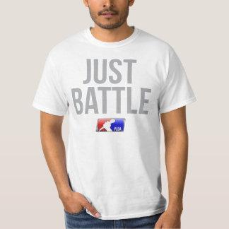 Apenas camiseta de la batalla polera