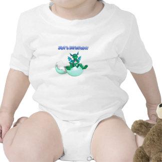 Apenas camiseta tramada del dragón del bebé