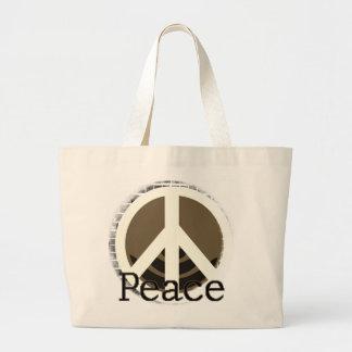 Apenas camisetas y regalos de la paz bolsa tela grande