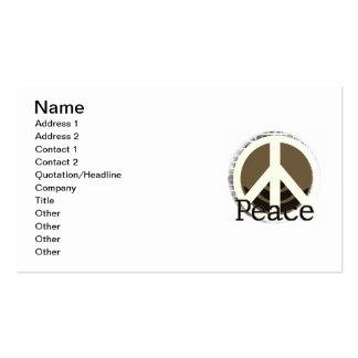 Apenas camisetas y regalos de la paz tarjetas de visita