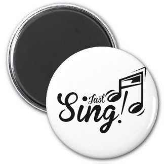 ¡Apenas cante! Imán Para Frigorifico