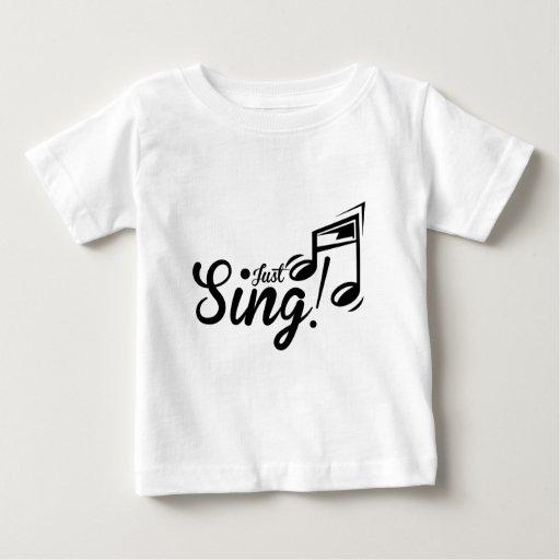Apenas cante playera para bebé