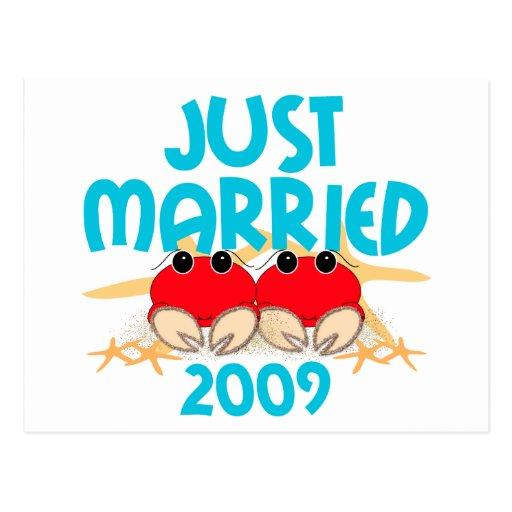 Apenas casado 2009 tarjeta postal