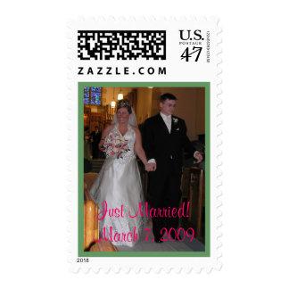 ¡Apenas casado! 7 de marzo de 2009 Timbres Postales