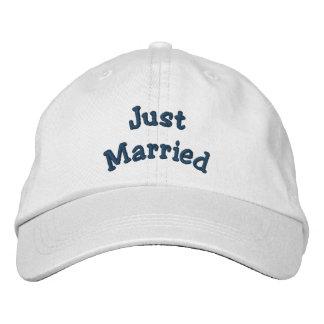 Apenas casado bordado casando el gorra gorra bordada