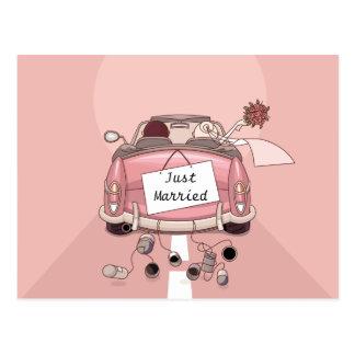 Apenas casado casando la postal del amor de la inv