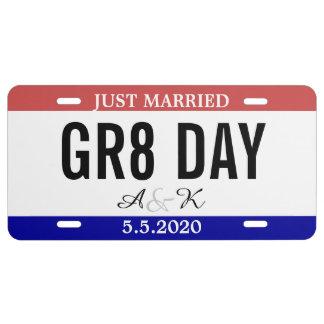 Apenas casado casando número del coche del placa de matrícula
