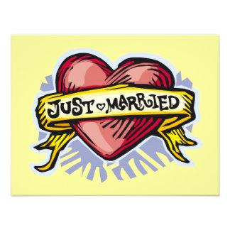 Apenas casado comunicados personalizados