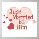 Apenas casado con él impresiones