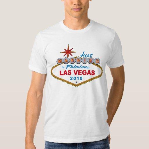 Apenas casado en Las Vegas fabuloso 2010 Remeras