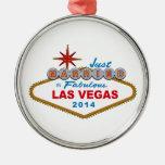 Apenas casado en Las Vegas fabuloso 2014 (muestra) Ornamento De Reyes Magos