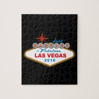 Apenas casado en Las Vegas fabuloso 2016 (muestra) Rompecabezas Con Fotos