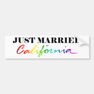Apenas casado en pegatina para el parachoques del  pegatina para auto