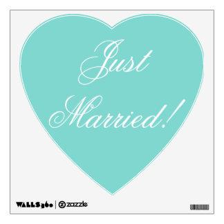 ¡Apenas casado! - etiqueta del corazón