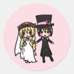 Apenas casado etiqueta redonda