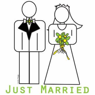 Apenas casado fotoescultura vertical