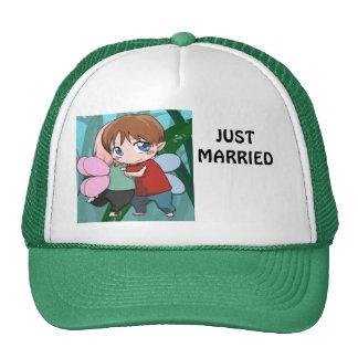 Apenas casado gorros bordados