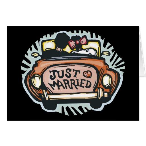 Apenas casado gracias felicitacion