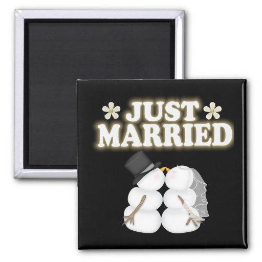 Apenas casado imán para frigorífico