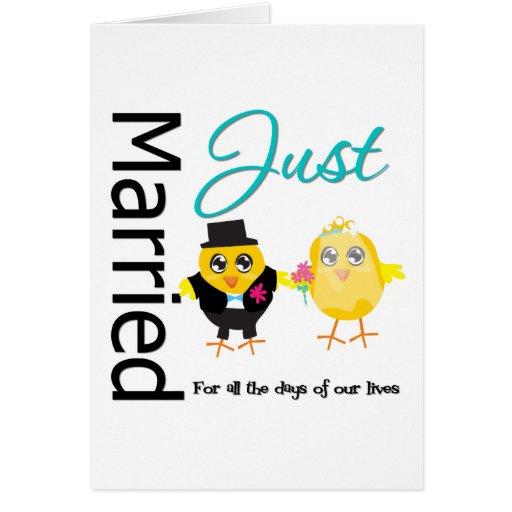 Apenas casado para todos los días de nuestras vida tarjetón